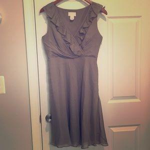 J Crew Bridesmaid Dress, Size 4, Gray